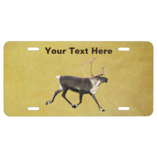 Bull Caribou License Plate