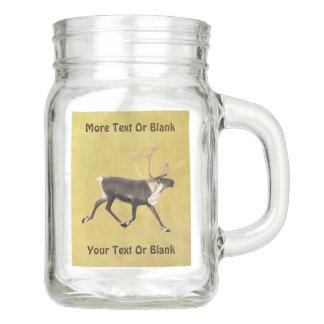 Bull Caribou Mason Jar