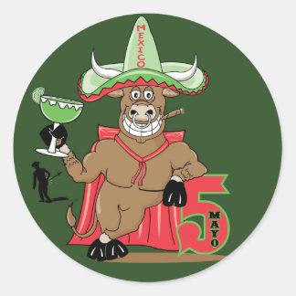 Bull Celebrations Classic Round Sticker