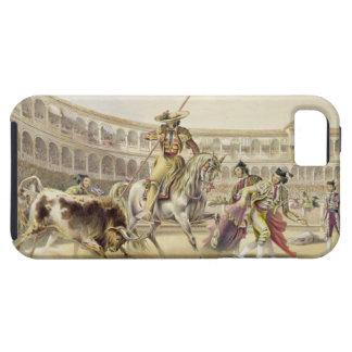 Bull Charging a Picador, 1865 (colour litho) iPhone SE/5/5s Case