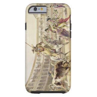 Bull Charging a Picador, 1865 (colour litho) Tough iPhone 6 Case