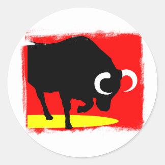 Bull Classic Round Sticker