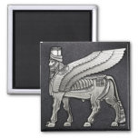 Bull coa alas babilónico Lamassu Imanes