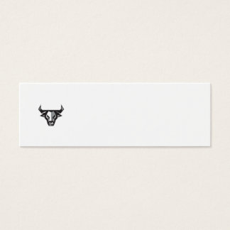 Bull Cow Head Low Polygon Mini Business Card