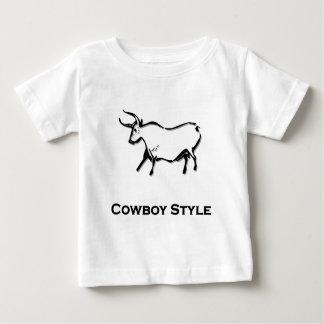 Bull Cowboy Style Black Baby T-Shirt