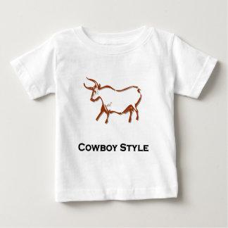 Bull Cowboy Style Brown Baby T-Shirt