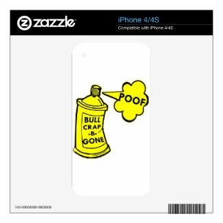 Bull Crap B Gone Spray Can iPhone 4S Decals