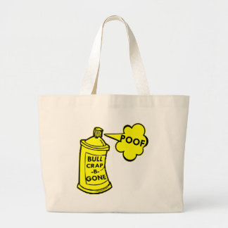 Bull Crap B Gone Spray Can Large Tote Bag