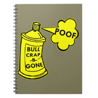 Bull Crap B Gone Spray Can Notebook