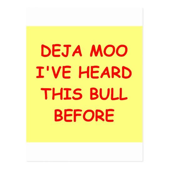 bull crap postcard