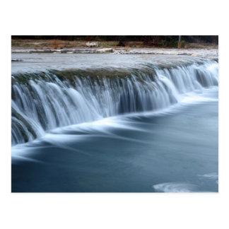 Bull Creek Waterfall, morning in Austin Texas Postcard