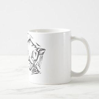 Bull de carga taza básica blanca
