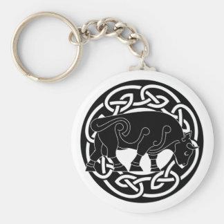 Bull de la prosperidad - llavero de Knotwork del C