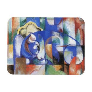Bull de mentira de Franz Marc, arte del cubismo Imanes Flexibles