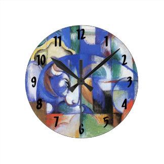 Bull de mentira de Franz Marc, cubismo del vintage Reloj