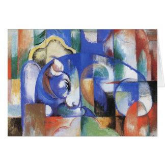 Bull de mentira de Franz Marc, cubismo del vintage Tarjetón