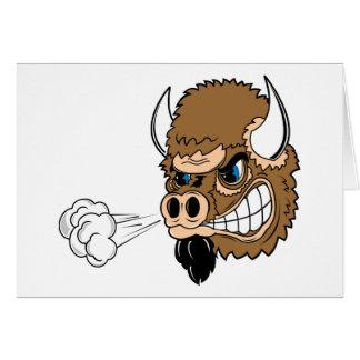 Bull de resoplido tarjeta de felicitación