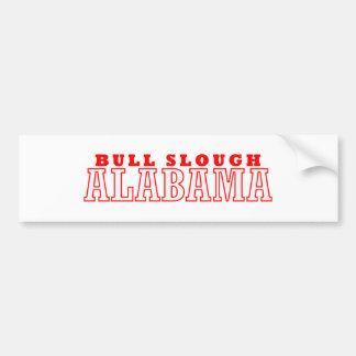 Bull diseño de la ciudad de Slough, Alabama Etiqueta De Parachoque
