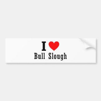 Bull diseño de la ciudad de Slough, Alabama Pegatina De Parachoque