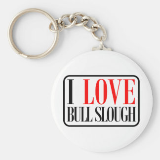 Bull diseño de la ciudad de Slough, Alabama Llavero Redondo Tipo Pin