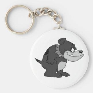 """Bull dog"" (black and white) Key Chains"