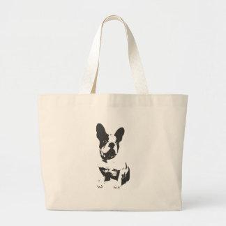 Bull Dog Fun Design Large Tote Bag
