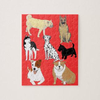 Bull Dog, German Shepherd, Jack Russel Puzzles