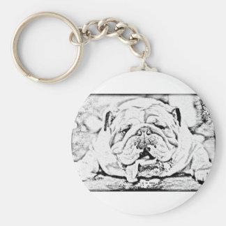 Bull dog key chain