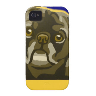 Bull Dog Pop Art Add Pets Name Customize Case-Mate iPhone 4 Cover