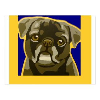 Bull Dog Pop Art Add Pets Name Customize Postcard