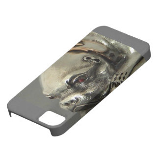 Bull Dog, Pug, Made of Silver for your Iphone5 iPhone 5 Case