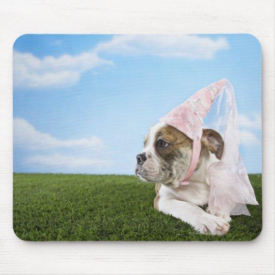 Bull Dog puppy princess Mouse Pad