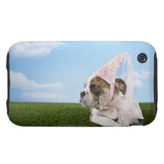 Bull Dog puppy princess Tough iPhone 3 Cover