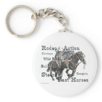 Bull Dogging II Keychain