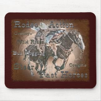 Bull Dogging III Mouse Pad