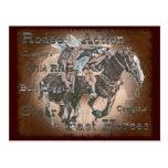 Bull Dogging III Postcard