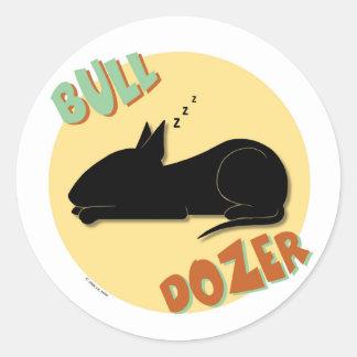 Bull Dozer Stickers