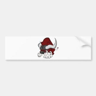 Bull Drawing Cartoon Character Bumper Sticker