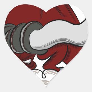 Bull Drawing Cartoon Character Heart Sticker