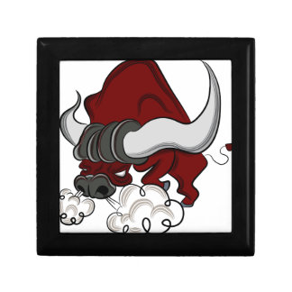 Bull Drawing Cartoon Character Jewelry Box