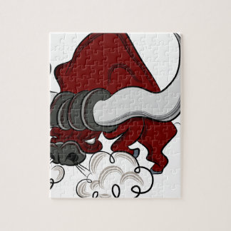 Bull Drawing Cartoon Character Jigsaw Puzzle