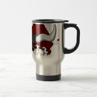 Bull Drawing Cartoon Character Travel Mug