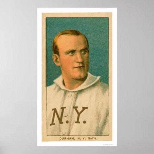 Bull Durham Baseball Card 1909 Poster