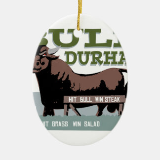 Bull Durham Ceramic Ornament