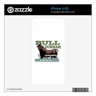 Bull Durham Skin For iPhone 4