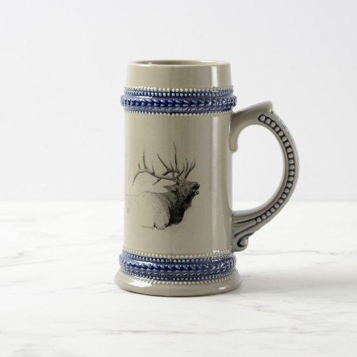 Bull Elk 18 Oz Beer Stein