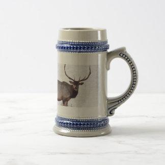 Bull Elk Beer Stein