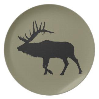 Bull elk black plate