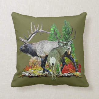 Bull elk  buck deer pillow