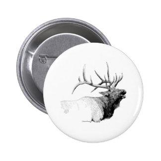 Bull Elk 2 Inch Round Button